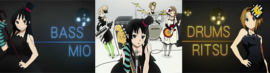 Mio and Ritsu in ending sequence