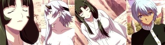 Tomoe and Shizuka at the hot springs