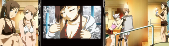Kanade victim of Sakuya and Yukino photoshoot