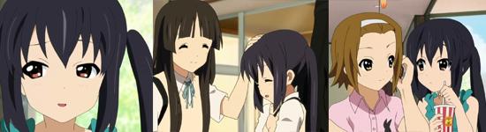 Azusa admires Mio
