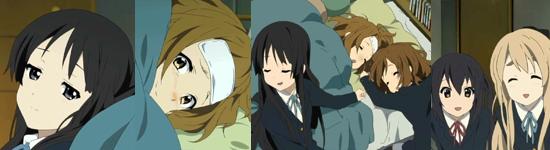 Mio and Ritsu make up