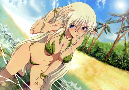 Allean in leaf bikini