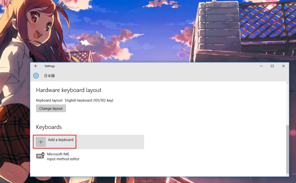 how to get japanese keyboard on windows 10